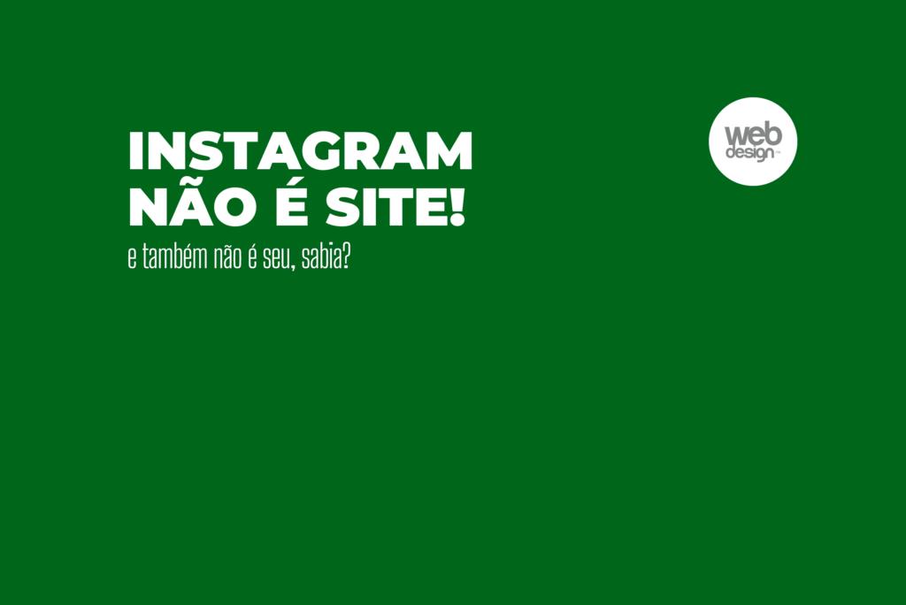 instagram não é site
